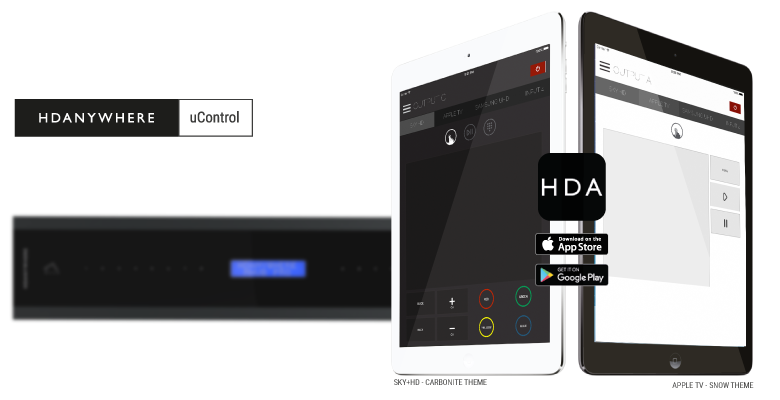 uControl is available to download from the iOS and Android store
